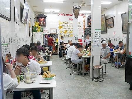 ベトナム ホーチミン フォーホア パスター Pho Hoa Pasteur 店内 席 人気店