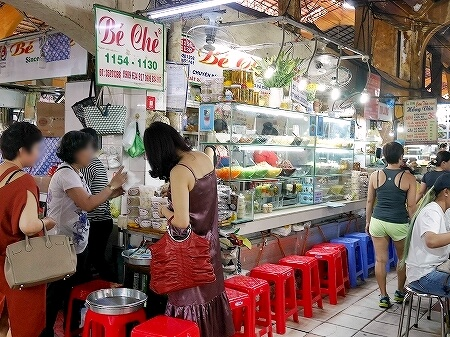 ベトナム ホーチミン ベンタイン市場 ベーチェー Bé chè プリン 外観