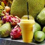 カンボジア シェムリアップ Angkor Trade Fruit Shake フルーツシェイク フルーツジュース おすすめ マンゴーシェイク