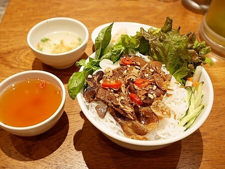 東京ミッドタウン日比谷 ベトナム料理 ベトナミーズ・シクロ ランチメニュー ブンチャーセット