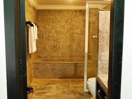 シェムリアップ クメール マンション ブティック ホテル Khmer Mansion Boutique Hotel カンボジア 部屋 バスルーム