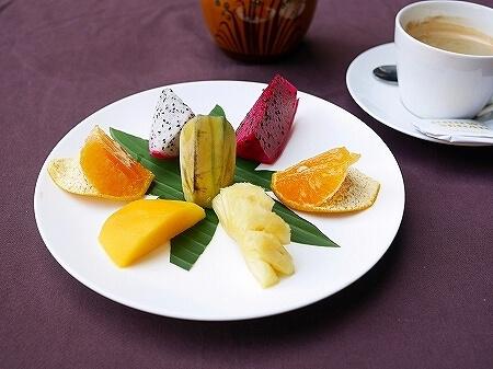 シェムリアップ クメール マンション ブティック ホテル Khmer Mansion Boutique Hotel カンボジア レストラン 朝食