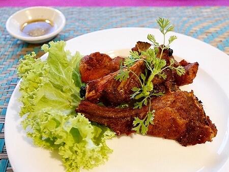シェムリアップ Five Sons ソクサン通り レストラン カンボジア フライドポークリブ