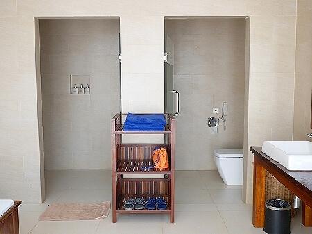 シェムリアップ アンコールランデブーヴィラ プライベートプール付き おすすめホテル Angkor Rendezvous Villa Private Pool Villa 部屋 シャワールーム トイレ