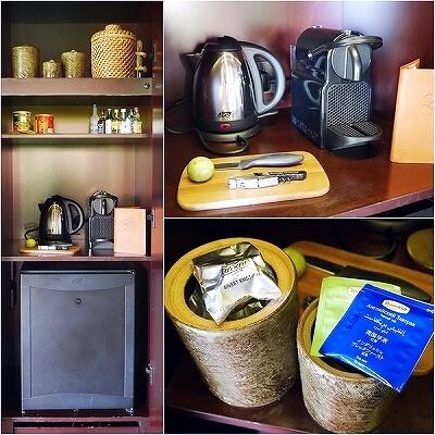 シェムリアップ プーム バイタン リゾート  Phum Baitang Resort ホテル 田園 宿泊記 部屋 テラスヴィラ コーヒーマシーン