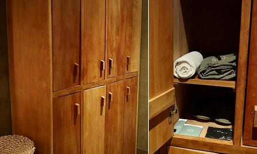 シェムリアップ プーム バイタン リゾート Phum Baitang Resort ホテル 田園 宿泊記 スパ spa マッサージ ロッカー