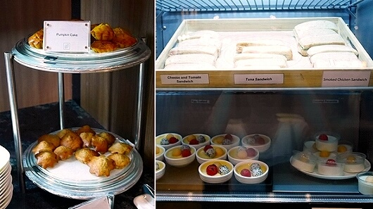 シェムリアップ国際空港 プラザプレミアムラウンジ Plaza Premium Lounge プライオリティパス カンボジア 食べ物 食事 バナナケーキ