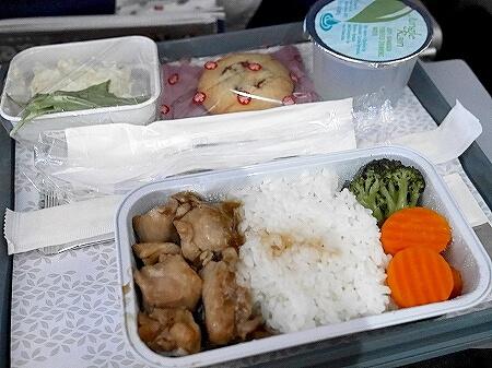ハワイアン航空搭乗記 ホノルル 羽田 HA855 機内食 照り焼きチキン