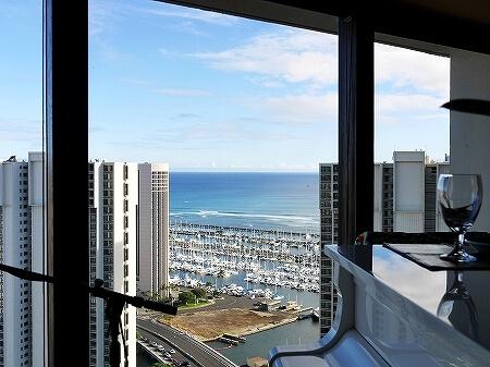 シグネチャープライムステーキ&シーフード The Signature Prime Steak & Seafood ハワイ アラモアナホテル ハッピーアワー 景色 席