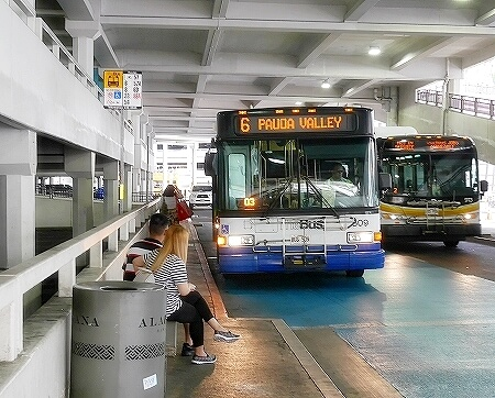 ハワイ 交通手段 移動手段 ザ・バス The Bus  乗り方 料金