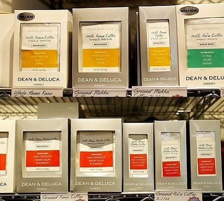 ハワイ限定 DEAN & DELUCA ディーンアンドデルーカ ディーン&デルーカ ロイヤルハワイアンセンター お土産 おすすめ コナコーヒー マウイモカコーヒー カウコーヒー