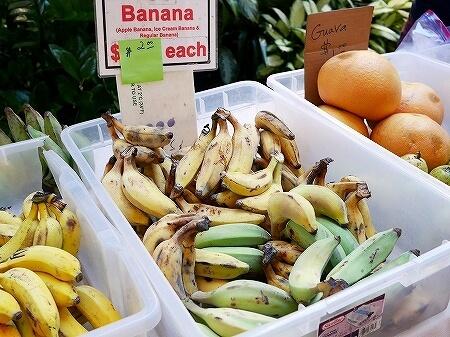ハワイ ハイアットリージェンシーホテル ファーマーズマーケット 火曜日 アップルバナナ