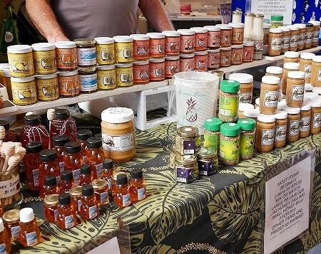ハワイ ハイアットリージェンシーホテル ファーマーズマーケット 火曜日 ジャム ピーナッツバター