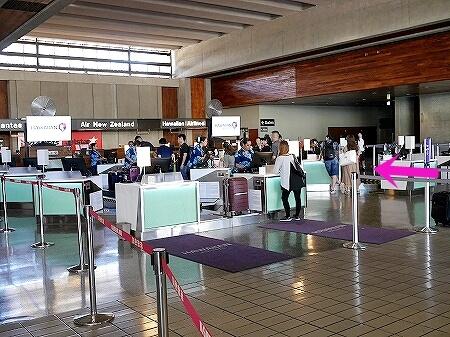 ハワイアン航空 ホノルル空港 チェックインカウンター 場所 ターミナル2