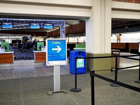 ハワイアン航空 ホノルル空港 チェックイン方法 ゲート 行き方 場所 ターミナル2 出国の流れ