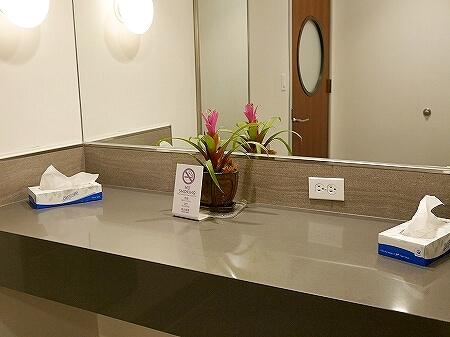 ハワイ ホノルル空港 ハワイアン航空ラウンジ プライオリティパス プルメリアラウンジ 場所 行き方 トイレ
