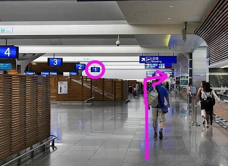 台湾大哥大 桃園空港第1ターミナル 返却 kkday wifiルーター ポケットwifi 出発ロビーから到着ロビーへの行き方