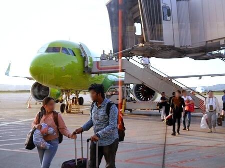 S7航空 成田-ウラジオストク  到着後 入国審査 流れ