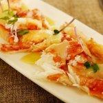 ウラジオストク スボイフェーテ スヴォイ SVOY fête サボイ King crab carpaccio タラバガニのカルパッチョ