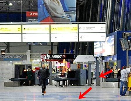 ウラジオストク空港 ロシア 出国 帰国 チェックイン 流れ お土産屋 ショップ お店 S7航空 X線検査