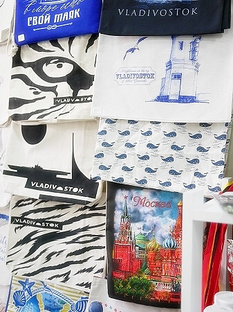 ウラジオストク お土産屋さん SOUVENIR shop&coffee 海モチーフ トートバッグ