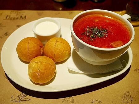 ウラジオストク Pizza M Cafe プリモリエホテル内のレストラン カフェ・ピッツァM カフェ・ピツツァ=ム ボルシチ