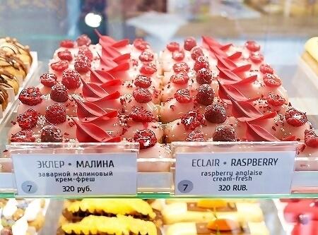 ウラジオストク フスピシュカ ラズベリーエクレア おすすめ カフェ 人気 種類 メニュー