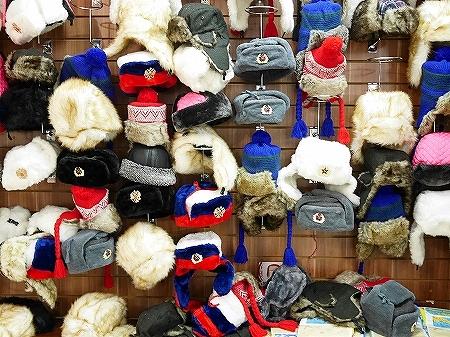 ウラジオストク おすすめお土産屋さん ブラッドギフツ ヴラドギフツ 店内 帽子