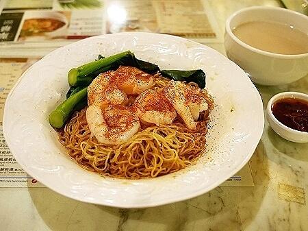 香港 翠華餐廳 すいかレストラン 富東広場 喫茶店 XO醤海老あえそば