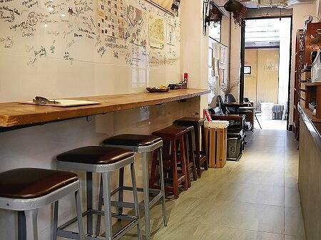 香港 ハーフウェイコーヒー Halfway Coffee 半路咖啡 店内 席