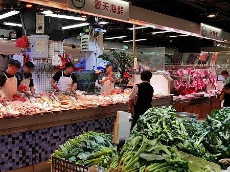 香港 市場 ローカルマーケット 富東街市 富東広場 Fu Tung Plaza 肉 魚
