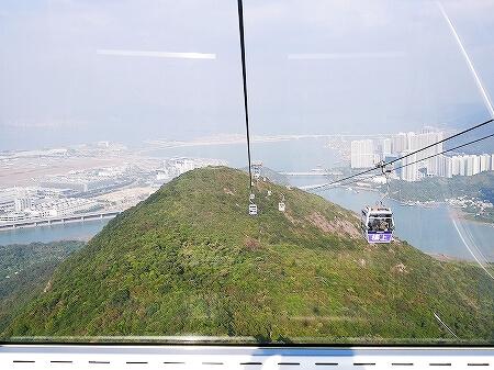 香港 ゴンピン360 ケーブルカー クリスタルキャビン 昂坪360 東涌駅 場所 乗り方 行き方 地図 マップ 値段 料金 景色