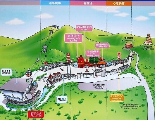 香港 ゴンピン360 昂坪360 ゴンピンビレッジ 地図 マップ