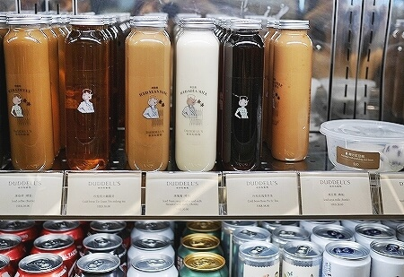 香港空港内 Duddell's ミシュラン1つ星 フードコート ダドルス 場所 値段 メニュー テイクアウト ミルクティー