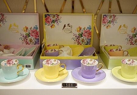 香港空港のおすすめお土産屋さん Salley's Garden お茶屋 中国茶 場所 値段 花茶 工芸茶 ティーカップ 食器 茶器