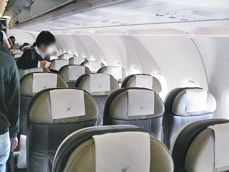 ブルネイ直行便 ロイヤルブルネイ航空搭乗記 成田-ブルネイ BI696 BI695 機内 席
