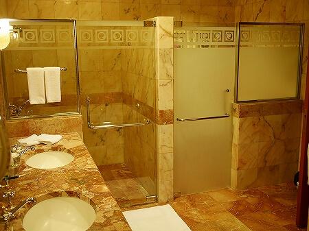 ブルネイ 7つ星ホテル エンパイアホテル宿泊記 スーペリアルーム ザ エンパイア ブルネイ ジ・エンパイア・ブルネイ The Empire Brunei ラグーンビル 部屋 室内 シャワールーム トイレ