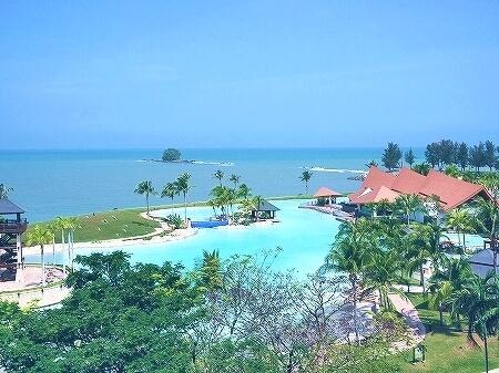 ブルネイの7つ星ホテル ジ・エンパイアホテル 宿泊記 オーシャンビュー デラックスルーム 室内 The Empire Brunei 景色 眺め 海