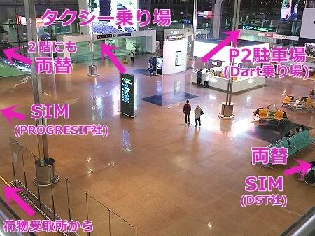 ブルネイ空港 両替所 SIMカード売り場の場所・値段 レート ブルネイ国際空港
