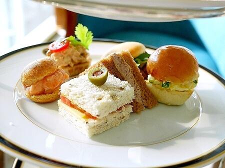 ブルネイ 7つ星ホテル エンパイアホテル 宿泊記 The Empire Brunei 旅行記 アフタヌーンティー サンドイッチ
