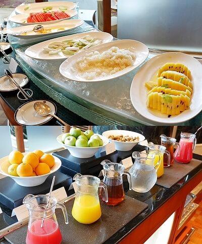 ブルネイ 7つ星ホテル エンパイアホテル宿泊記 朝食 The Empire Brunei レストラン フルーツ 果物