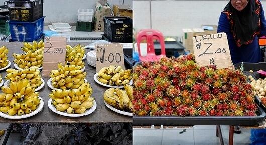 ブルネイ ガドンナイトマーケット ローカルフード おすすめグルメ ブログ 旅行記 果物 フルーツ バナナ