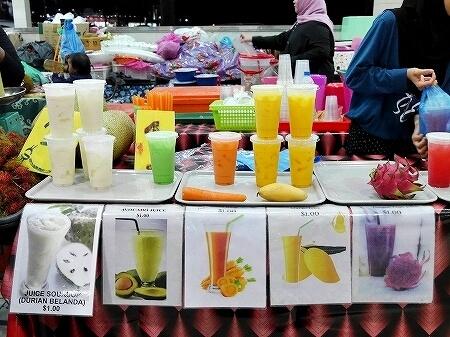 ブルネイ ガドンナイトマーケット ローカルフード おすすめグルメ ブログ 旅行記 フルーツジュース 飲み物 ドリンク