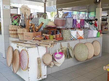ブルネイ キアンゲマーケット Kianggeh Market 市場 観光 旅行記 ブログ かごバッグ