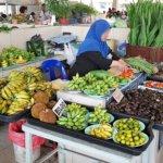 ブルネイ キアンゲマーケット Kianggeh Market 市場 観光 旅行記 ブログ バナナ フルーツ 果物