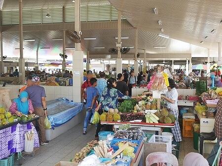 ブルネイ キアンゲマーケット Kianggeh Market 市場 観光 旅行記 ブログ