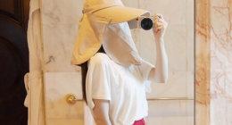 旅行におすすめ!顔も完全ガードする「フェイスカバー付き日よけ帽子」(FUPUSUN)