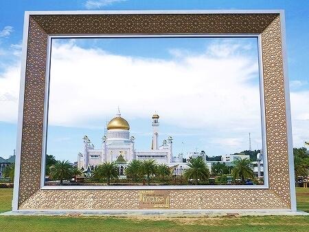 ブルネイ オールドモスク 見学方法 スルタン・オマール・アリ・サイフディン・モスク ブログ 旅行記 観光 Masjid Omar Ali Saifuddien フレーム frame