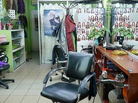 ブルネイ シャンプー ザ・ブルネイホテル前 ローカル 美容院 Yunos Salon 美容室 ヘアサロン 店内