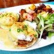 ハワイ一人旅♡「ザ・ベランダ」でエッグベネディクトの朝食♪ハワイの蒸し焼き豚は微妙な味(モアナサーフライダーホテル内「THE VERANDA」)
